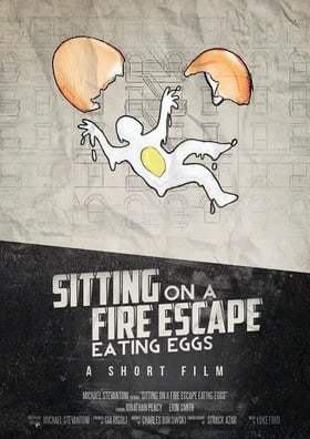 Sitting on a Fire Escape Eating Eggs