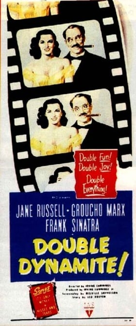 Image result for Double Dynamite 1951 poster