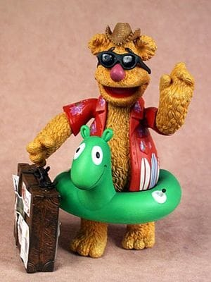 The Muppets: Vacation Fozzie Bear in Red Shirt